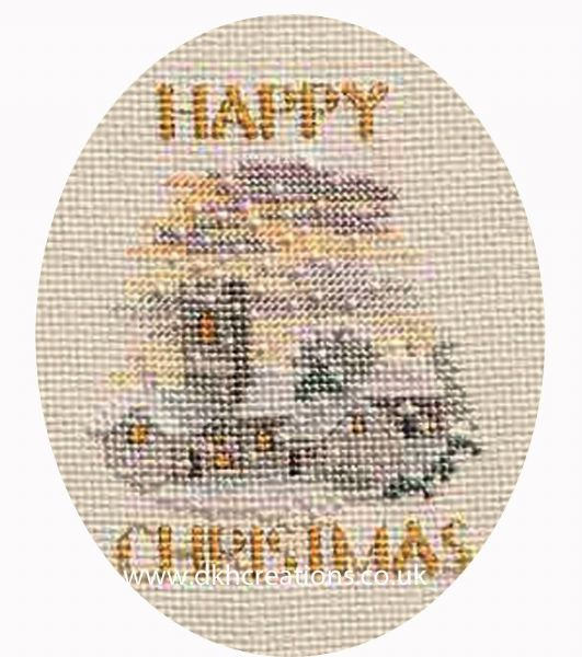 Evening Snowfall Christmas Card Cross Stitch Kit